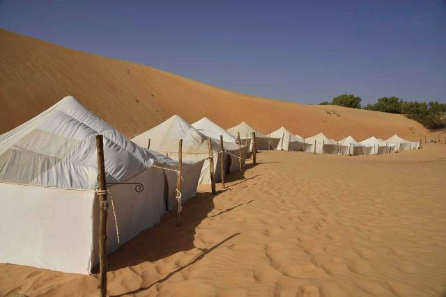 Photo 3 du Ecolodge de Lompoul au Sénégal. Vacances dans un lodge en plein désert au nord du Sénégal.