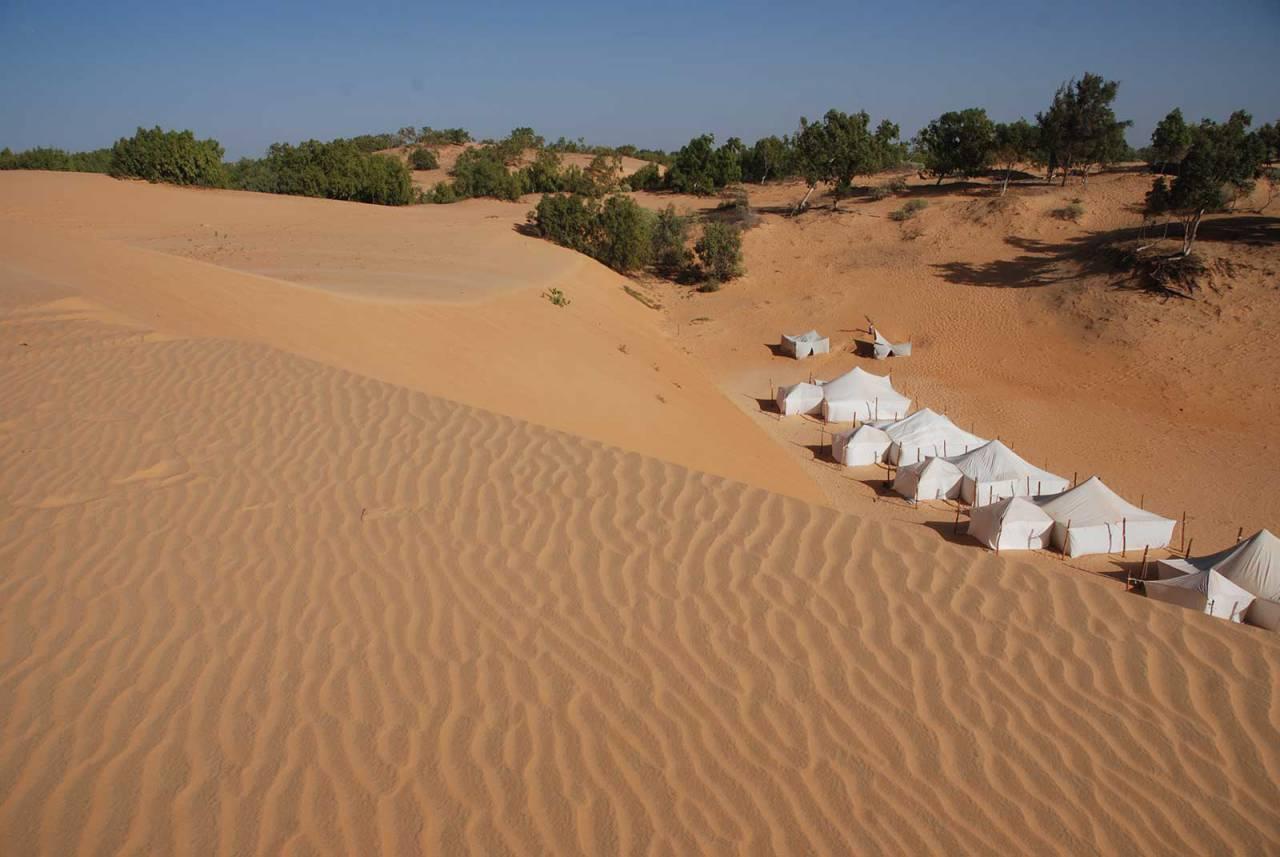 Ecolodge de Lompoul au Sénégal. Vacances dans un lodge en plein désert au nord du Sénégal., Ecolodges du Sénégal