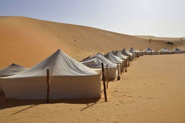 Photo 1 du Ecolodge de Lompoul au Sénégal. Vacances dans un lodge en plein désert au nord du Sénégal.